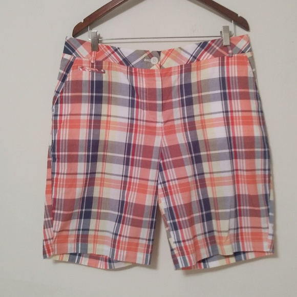 Talbots Pants - Talbots Plaid Bermuda 100% Cotton Shorts